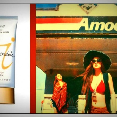 Left: Jane Iredale Dream Tint  Right: Neil Krug, The Embry Twins Gas Station