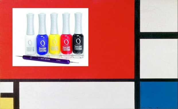 Orly Starter Kit x Piet Mondrain Composition II in Red, Blue, and Yellow