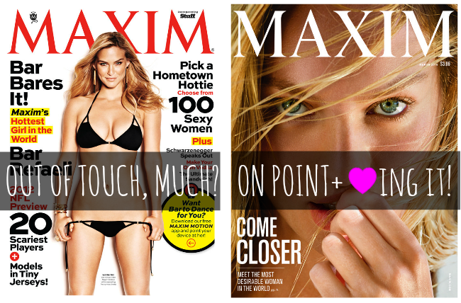 maxim then and now