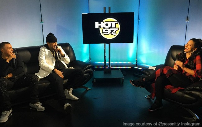 @nessnitty interviews @frenchmontana and @djcamilo for @hot97 #nessa3to7 image courtesy of @nessnitty instagram