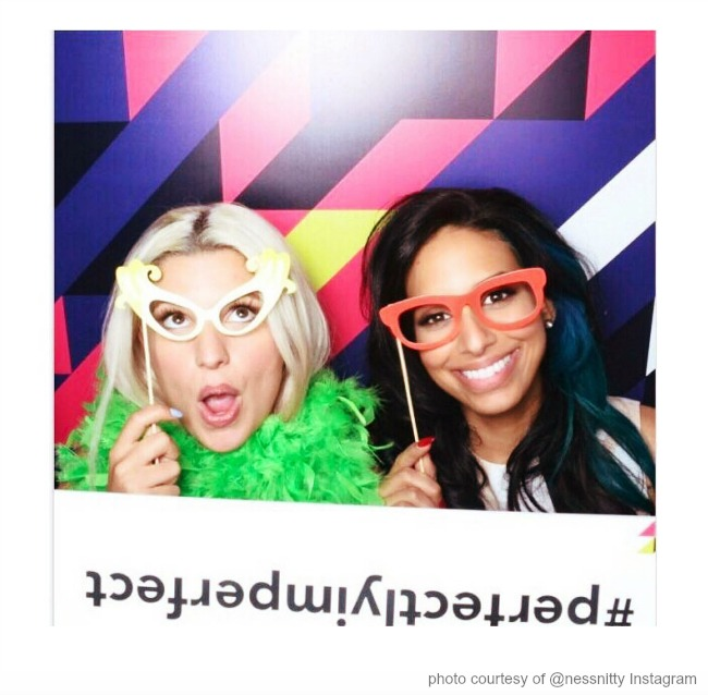 Carly Aquilino and Nessa @carlyaquilino and @nessnity are Plan B #perfectlyimperfect spokespeople and photo booth champs