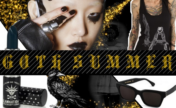 goth summer mood board pstol feat images from Luca Tombolini for Indigital.tv lethal amounts manic panic