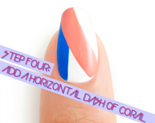 3 DAY WEEKEND STEP_4 by essie celebrity nail artist Michelle Saunders 4th fourth of july nail art tutorial