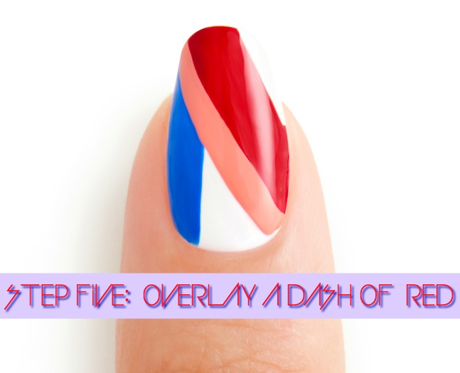 3 DAY WEEKEND STEP_5 by essie celebrity nail artist Michelle Saunders 4th fourth of july nails nail art tutorial